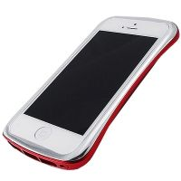 Бампер draco elegance aluminum for iPhone 5.5s Silver/Red, Цена: 758 грн, Фото