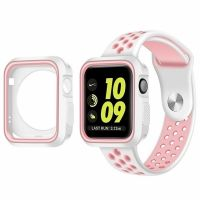 Ремешок Silicone Pink/Grey Nike for Apple Watch 38/42mm + накладка