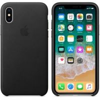 iPhone X/XS Leather Case - Black