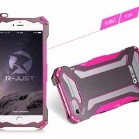 Бампер R-JUST Gundam Series Aluminum Metal Frame For iPhone 5.5s.6 Pink