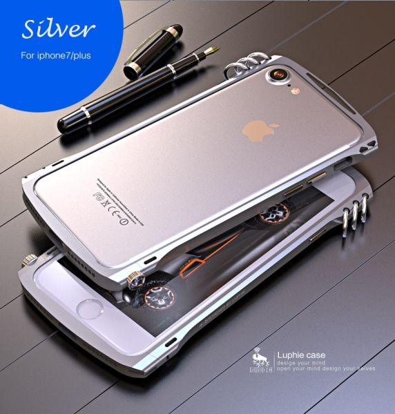 фото Бампер Alien X1 rotary screw for iPhone 7.7 plus/ 8.8 plus Silver
