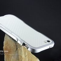 Чехол- бампер Incisive sword Aluminum for iphone SE/5S/5 Silver