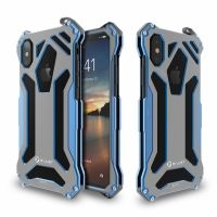 Чехол R-JUST Gundam  Blue Metal Case For iPhone X/10/XS