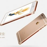 Бампер iMax Wood iPhone 6.6s / 6 plus Gold