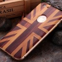 ����� Wood Grain Pattern Cover Case Metal Frame Bumper For iPhone 6. 6s �1