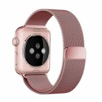 Ремешок Apple Watch 38/40/42/44mm with Milanese Loop (magnetic) Rose Pink