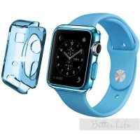Чехол Silicol 0.6mm для Apple Watch 38mm and 42mm Blue