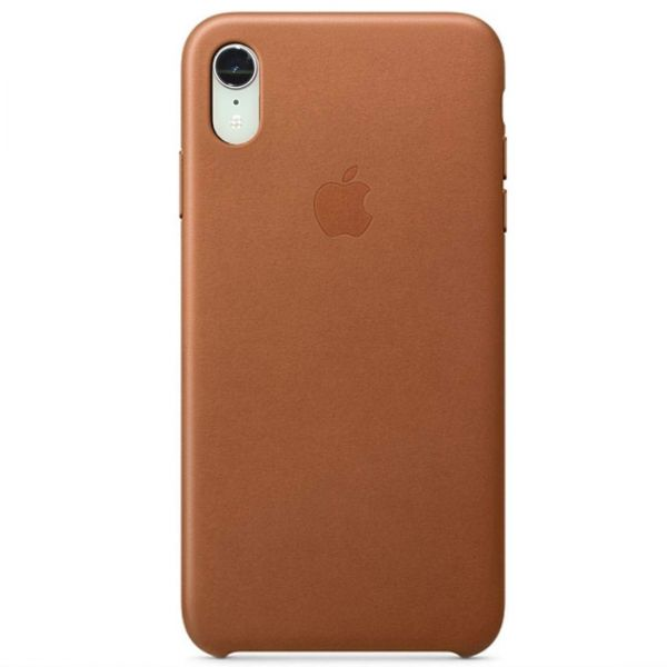 фото Чехол iPhone XR Leather Case - Saddle Brown