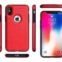 Чехол Grand Leather для iPhone Xs Max Red