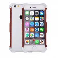 Бампер R-Just Wood iPhone 6.6s / 6 plus Silver