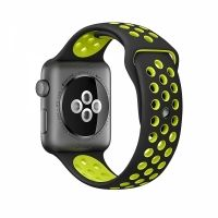 Ремешок Silicone with Black/Volt Nike for Apple Watch 38/42mm