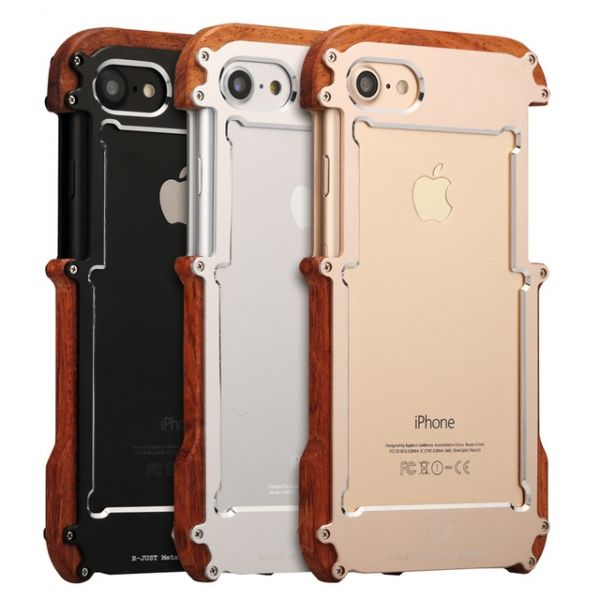 Бампер R-JUST Wood For iPhone 7.7 Plus/ 8.8 plus (три цвета) - Фото 1