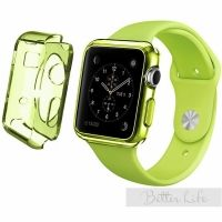 Чехол Silicol 0.6mm для Apple Watch 38mm and 42mm Green