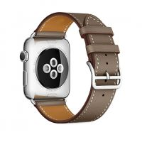 Ремешок для Apple Watch 42/44mm Hermes Single Tour Taupe, Цена: 778 грн, Фото