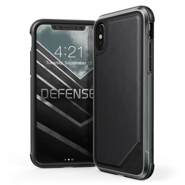 фото Чехол X-Doria Defense Lux iPhone X/XS  - Leather Black