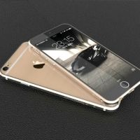 Тонкий бампер Designed by Luphie для iPhone 6. 6 plus Blade Gold
