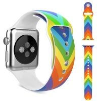 Ремешок Silicone Rainbow Colorful for Apple Watch 38/40/42/44mm