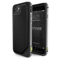 X-Doria Defense Lux iPhone 7/7 Plus Fitted Hard Shell Case - Carbon Black