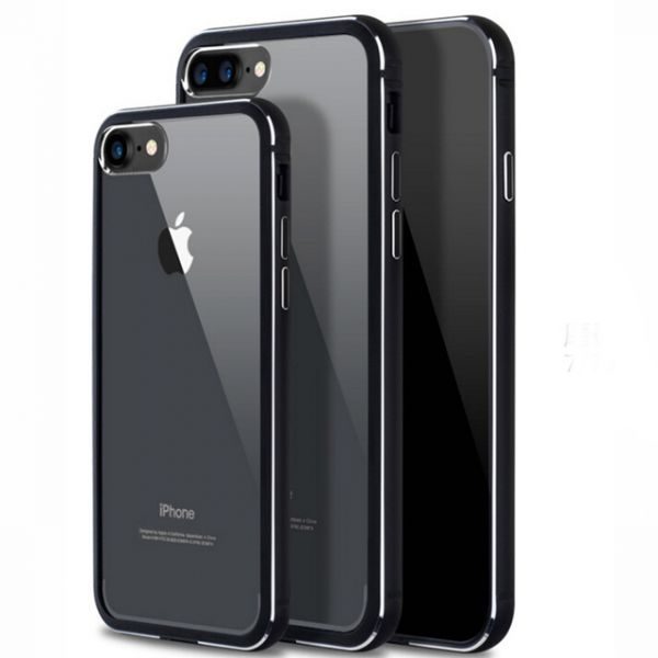 фото Чехол silicone-aluminium Black Matte для iPhone 7.7 plus/ 8.8 plus задняя накладка