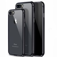 Бампер-чехол silicone-aluminium Black Matte для iPhone 7.7 plus/ 8.8 plus задняя накладка