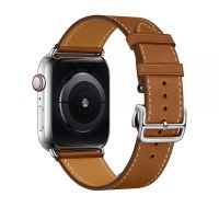 Ремешок для Apple Watch 42/44mm Hermes Single Tour Deployment Buckle Brown