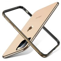 Бампер Silicone-Aluminium для iPhone 11 Pro - Gold, Цена: 477 грн, Фото