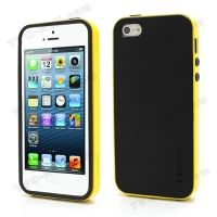 SPIGEN SGP Neo Premium TPU   PC Hybrid Cover Case for iPhone 4.4s.5 - Black / Yellow