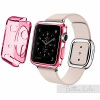 Чехол Silicol 0.6mm для Apple Watch 38mm and 42mm Pink