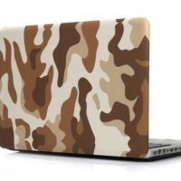 Чехол пласиковый для MacBook Air 13.3 Pro 13/ 15 retina Military Camouflage Brown