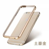 ROCK Ultrathin Aircraft Aluminium Bumper Case with Crystal back for iPhone 6 4.7 - Gold