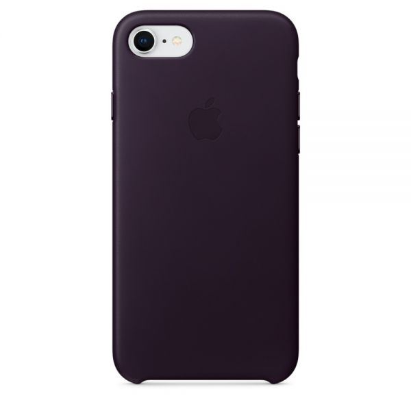 Кожаный чехол Apple Leather Case Dark Aubergine для iPhone 7/8 - Фото 1
