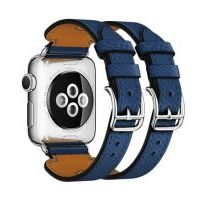 Ремешок для Apple Watch 42/44mm Hermes Double Buckle Cuff Midnight Blue