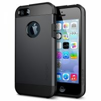SGP SPIGEN Case Tough Armor Smooth Black - Защитный чехол для iPhone 4.4s.5.5s