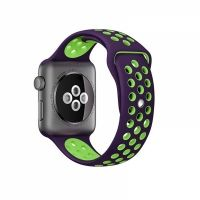 Ремешок Silicone with Violet/Green Nike for Apple Watch 38/40/42/44mm