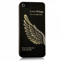 Harley Inspired Wing 3D Case Black for iPhone 4.4s и для iPhone 5