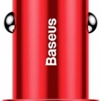 Baseus Small Screw Dual-USB Quick Charge Car Charger 36W Red (CAXLD-B01)