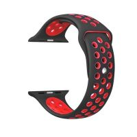 Ремешок Silicone with Black/Red Nike for Apple Watch 38/40/42/44mm