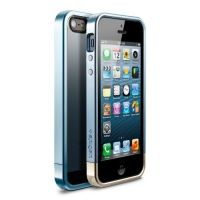 Чехол SGP Case Linear Metal Crystal Series Metal Blue for iPhone 5.5s, Цена: 295 грн, Фото
